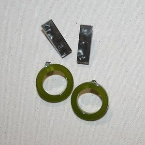 Oak + Fort Resin Earrings x 2